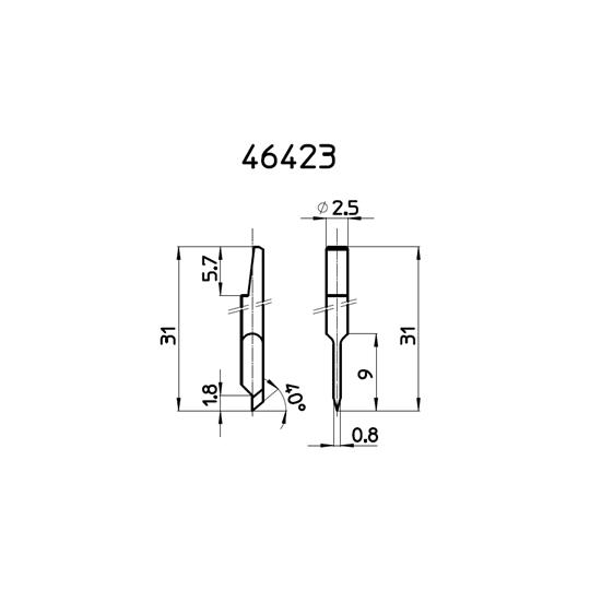 Blade 46423 - Max. cutting depth 1.8 mm