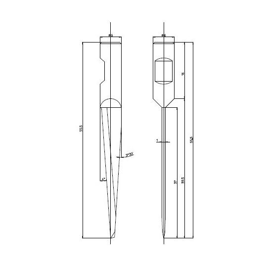 Blade 47937 - Max. cutting depth 37 mm