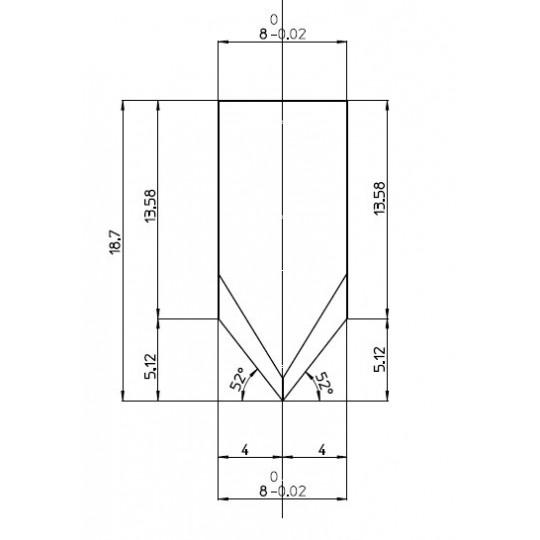 Blade 47974 - Max. cutting depth 5 mm