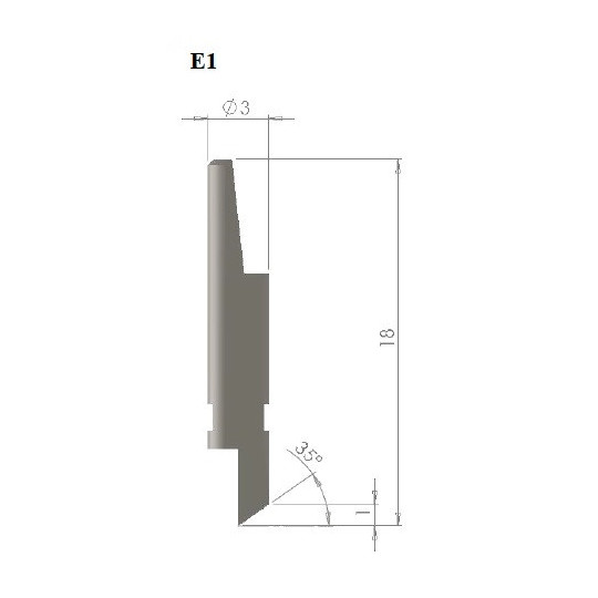 Blade E1 - Max cutting depth 0.8 mm