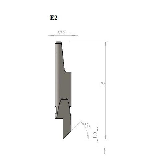 Blade E2 - Max. cutting depth 1.5 mm