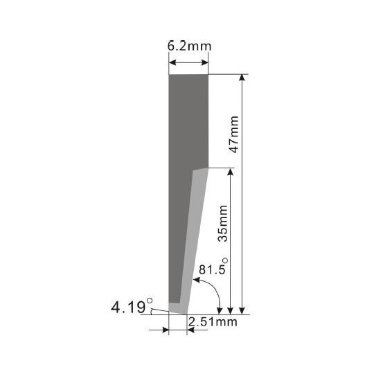 Blade E65 - Max. cutting depth 33 mm
