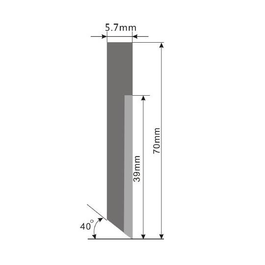 Blade E71-2 - Max. cutting depth 20 mm