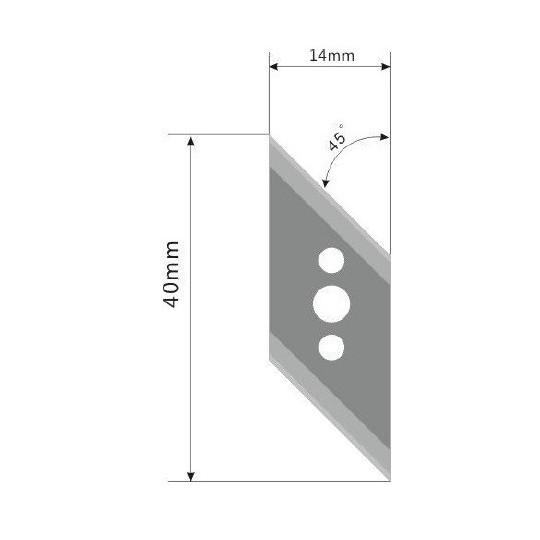 Blade E77 - Max. cutting depth 9 mm