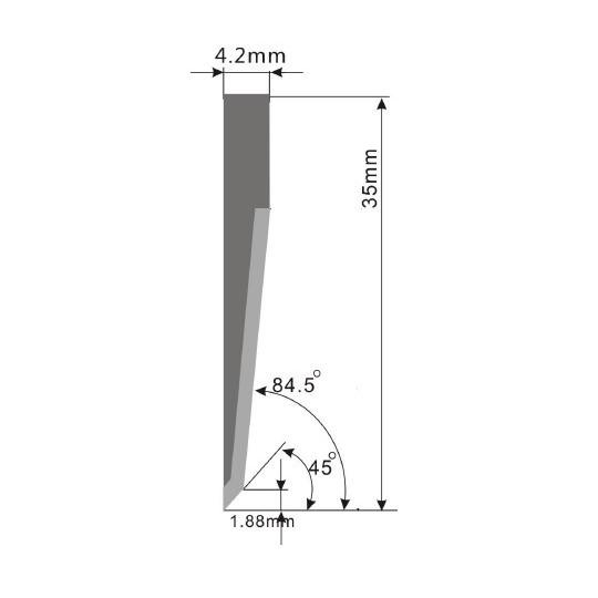 Blade E25 - Max. cutting depth 21 mm
