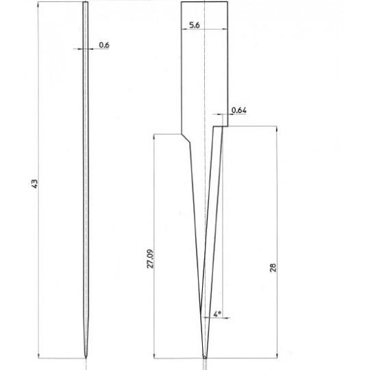 Blade 48132 - Max. cutting depth 25 mm