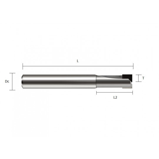 Diamond end mill Dc 10 T 5 L 60 L2 18