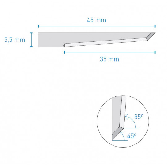 Blade J360 50000T KNF A1548 compatible - Max. cutting depth 30 mm