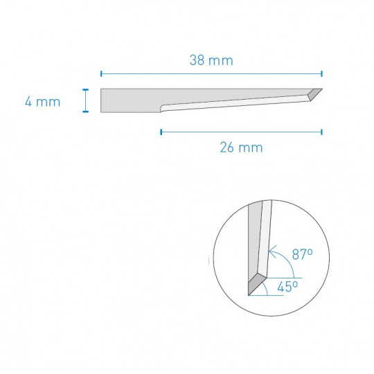 Blade 028 KNF A1688 compatible - Max. cutting depth 25 mm