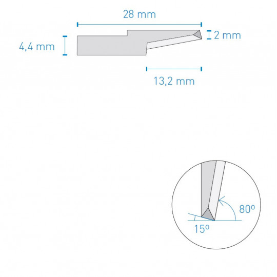 Blade 062 KNF A1640 compatible - Max. cutting depth 12 mm