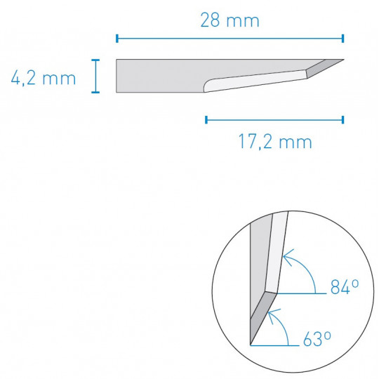 Blade 021 KNF A1610 compatible - Max. cutting depth 16 mm