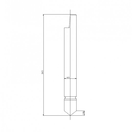 Blade 46357 - Max. cutting depth 1.5 mm