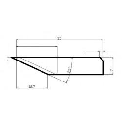 Lama compatibile Elitron - 135533 - spessore di taglio 12.7mm