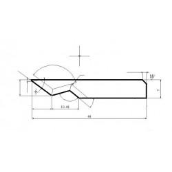 Lama compatibile Elitron - 135536 - spessore di taglio fino a 18mm