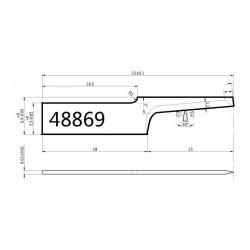 Lama compatibile Atom - 48869 - spessore di taglio fino a 15mm