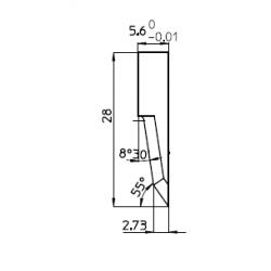 Lama compatibile con Zund - Z60 - 46316 - spessore di taglio fino a 16mm