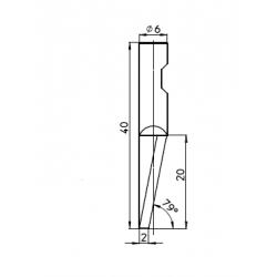 Lama compatibile con Summa - 5009830 - 48464 - spessore di taglio fino a 20mm
