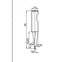 Lama 48534 - spessore di taglio fino a 15mm