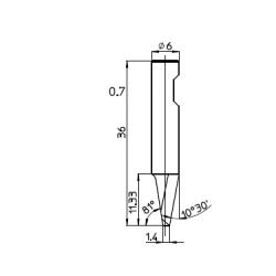 Lama 48535 - spessore di taglio fino a 11mm
