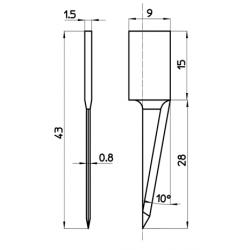 Lama compatibile con Cielle - 48849 - spessore di taglio fino a 28mm