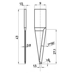 Lama compatibile con Cielle - 48922 - spessore di taglio fino a 27mm
