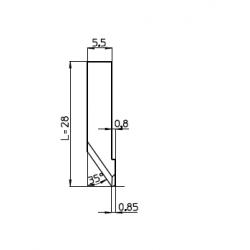Lama 46861 - spessore di taglio fino a 8mm