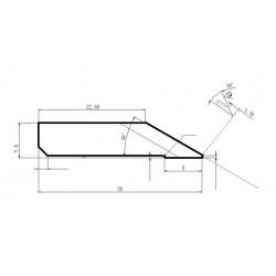 Lama compatibile Elitron - 135535 - spessore di taglio fino a 12mm