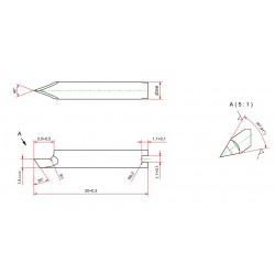 Lama compatibile con Zund - gambo da 3mm