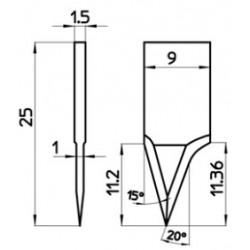 Lama 48734 - spessore di taglio fino a 11mm
